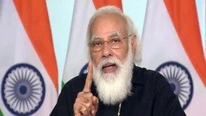 Prime Minister Narendra Modi addresses during a launch of Ayushman Bharat PM-JAY SEHAT to extend coverage to all residents of J&K via video conferencing, in New Delhi on Saturday.