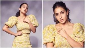 Sara Ali Khan floral print co-ord set