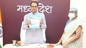 """Chief Minister Mr. Chauhan released the book """"FACILITY BASED PEDIATRIC CARE DURING COVID-19"""""""