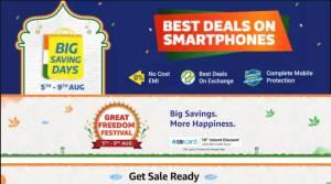 Amazon Great Freedom Festival and Flipkart Big Saving Days sale on August 5