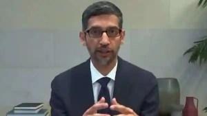 Google CEO Sundar Pichai (via REUTERS)