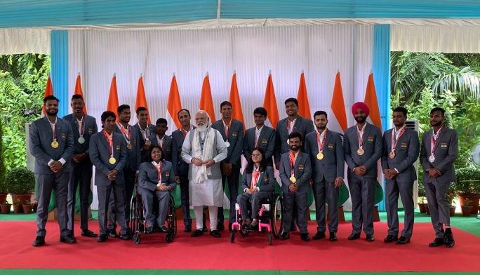 Para-athlete Sandeep Chaudhary praises PM Modi for leadership