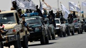 Taliban parade shows off plundered US hardware