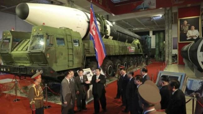North Korea's Kim Jong Un vows to build 'invincible' military while slamming US