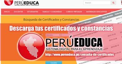 PerúEDUCA: Descarga tus Certificados y Constancias de cursos virtuales, www.perueduca.pe