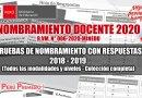 NOMBRAMIENTO DOCENTE 2020: Cuadernillo y Clave de respuestas, examen de Nombramiento Docente 2018 y 2019, [PDF Colección completa], www.minedu.gob.pe