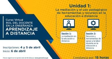 MINEDU lanza curso virtual «El ROL DEL DOCENTE en el aprendizaje a distancia» [Preinscríbete hasta el 5 de abril de 2020]