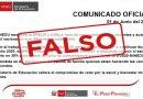 COMUNICADO FALSO: Reducción de sueldo 30% de los docentes
