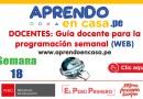 DOCENTES: Guía docente para la programación SEMANA 18 (PLATAFORMA WEB) [APRENDO EN CASA][Del 3 al 7 de agosto de 2020]
