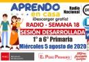 SESIÓN RADIAL DESARROLLADA (Adaptada para el estudiante) – Miércoles 5 de agosto de 2020 (Matemática) – [PRIMARIA: 1° a 6°][Descargar aquí]