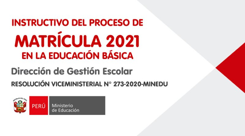 Matrícula escolar 2021 – Repositorio de Educación