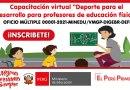 """Capacitación virtual """"Deporte para el Desarrollo para profesores de educación física"""", Inicio 12 de enero de 2021, OFICIO MÚLTIPLE 00001-2021-MINEDU/VMGP-DIGEBR-DEFID"""
