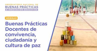 Webinar | Buenas prácticas docentes de convivencia, ciudadanía y cultura de paz (20 de julio de 2021)