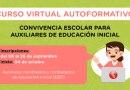 Curso virtual para los auxiliares del nivel inicial de Educación Básica Regular, preinscripción al curso del 6 al 26 de septiembre de 2021
