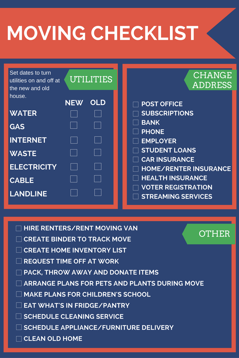 moving checklist and tips