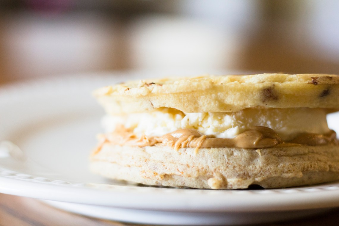 Eggo Peanut Butter Ice Cream Sandwich