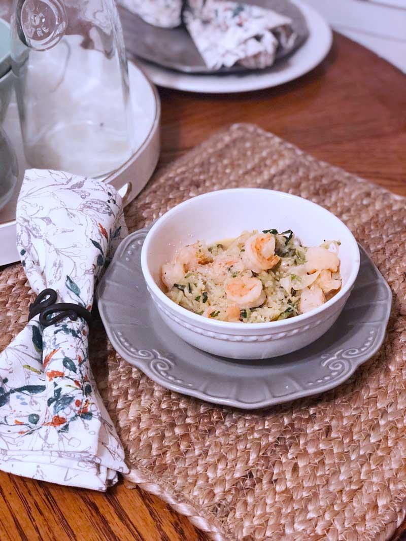 Zoodle Shrimp Scampi