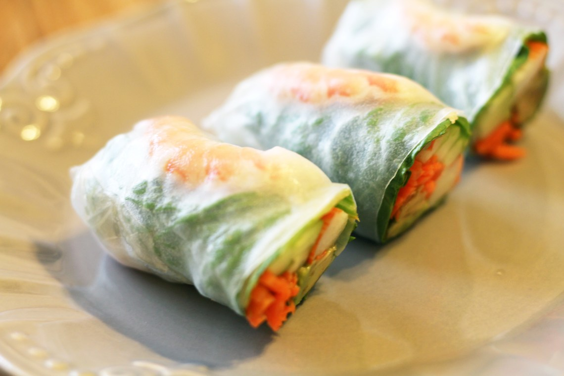 Vietnamese Spring Rolls with Crab and Shrimp