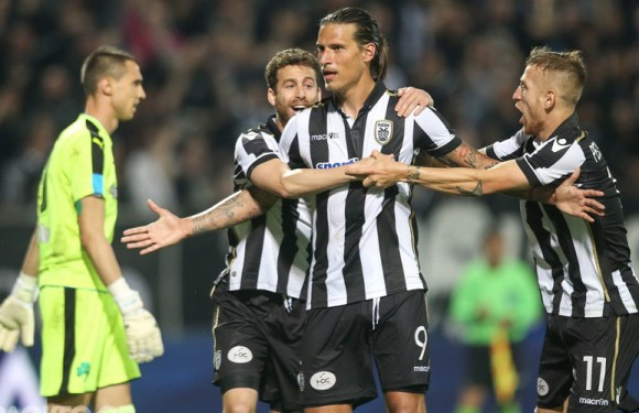 Prijović strelac, PAOK deklasirao 'zelene' (VIDEO)
