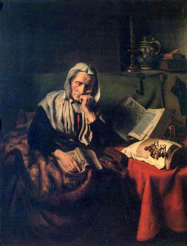 Nicolaes Maes - Vieille femme