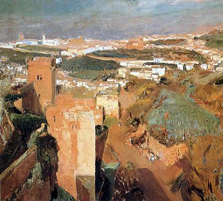 Joaquín Sorolla y Bastida  - La torre de los Siete Picos, La Alhambra