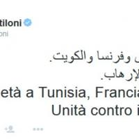 Attentati in Francia, Kuwait e Tunisia: il tweet in arabo di Gentiloni contro il terrorismo