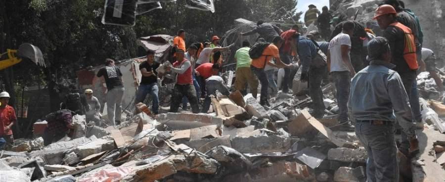 Messico, terremoto di magnitudo 7.1. Vittime sotto le macerie dei palazzi sgretolati