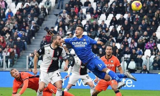Juventus-Udinese 3-1: il tridente funziona, doppio Ronaldo e Bonucci firmano il successo