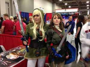 Two genderbent Link cosplays at the 2015 SLC Comic Con