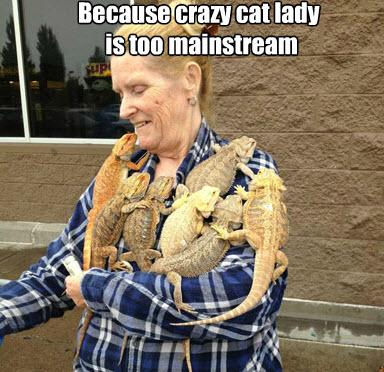 crazy reptile person