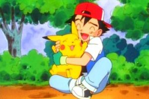 Ash and his Pikachu - reptiles are basically Pokemon