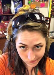 Bearded dragon tantrum at the reptile vet's office