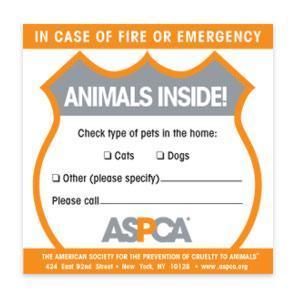 emergency preparedness with pet reptiles - aspca rescue sticker