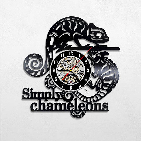 Christmas 2017 reptile gifts — Chameleon wall clock