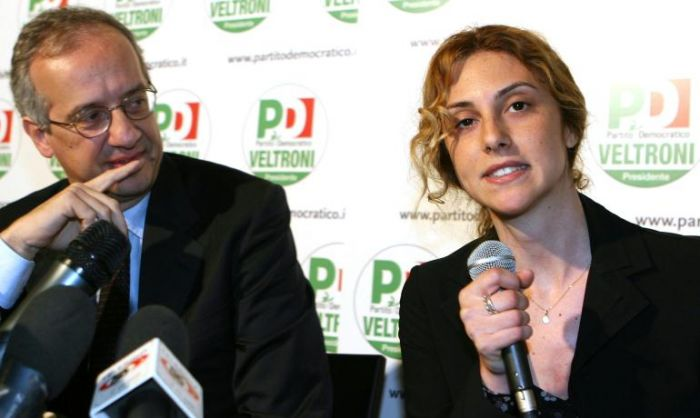 Marianna Media con Walter Veltroni