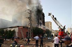 <B>Marocco, incendio in una fabbrica<br>almeno 55 morti tra gli operai</B>