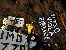 """Torna in piazza il popolo Viola """"La legge è uguale per  tutti"""""""