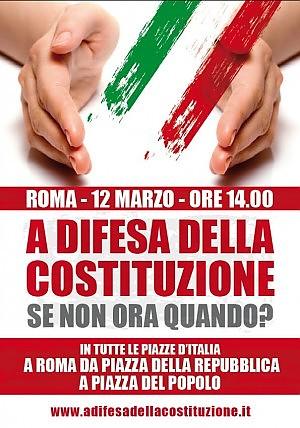 """Il 12 marzo """"l'altra Italia"""" in piazza per difendere la Costituzione"""