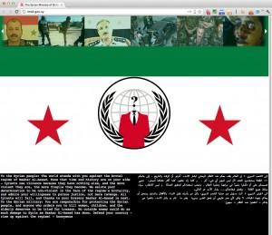 Anonymous contro il regime di Assad hackerato il sito del ministero della Difesa