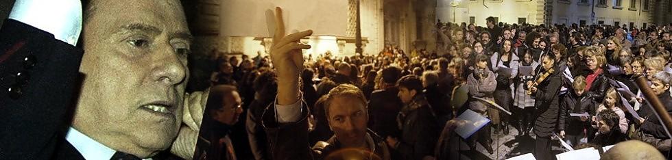 """Berlusconi   si di m ette  .   Festa  sotto il Quirinale     foto     video     Plauso  di Obama .  Letta: """"Faccio  passo indietro """""""