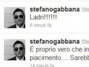 """Gabbana contro il fisco su Twitter """"Ladri, sarebbe meglio andarsene"""""""