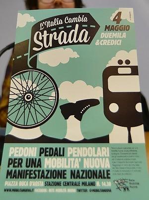 Ciclisti, pedoni, pendolari, associazioni: il 4 maggio a Milano per la Mobilità Nuova
