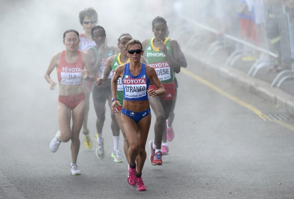 Un'immagine della maratona di Mosca