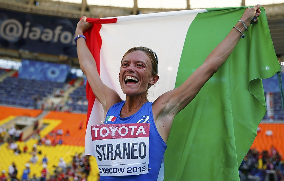 Valeria Straneo seconda alla maratona dei Mondiali