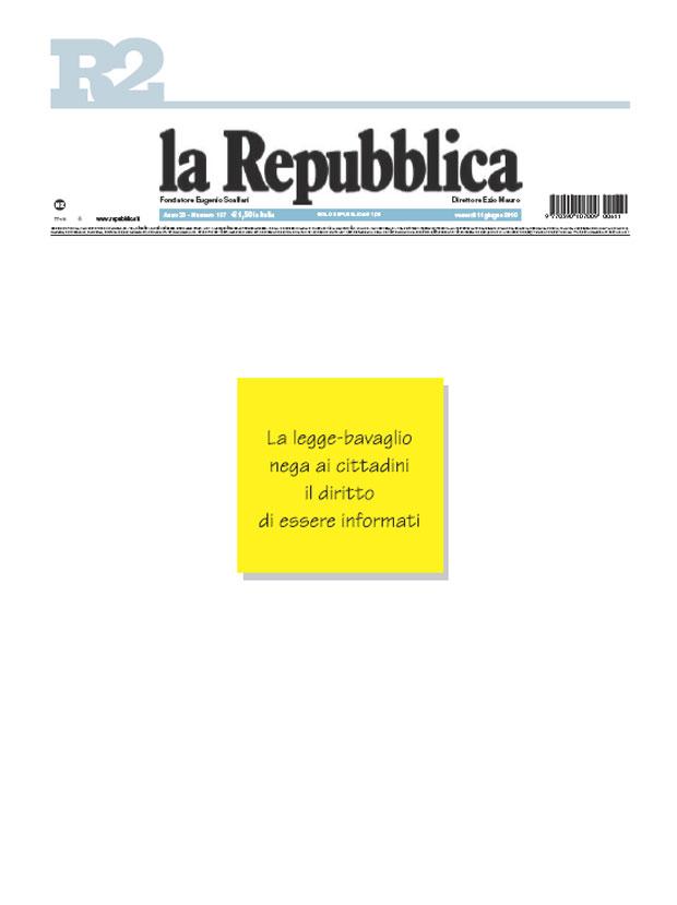 No al bavaglio Repubblica