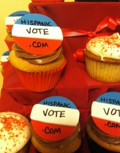 Hispanic Vote cupcakes