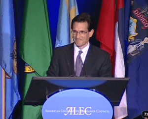 Did Corporate Front Group ALEC Give Eric Cantor A Potentially Illegal ,350 Cash Award?