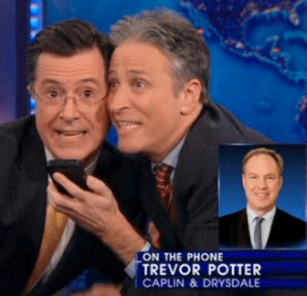 "Phony Firewall Between Romney And His Super PAC Mocked By Former Employer, ""The Colbert-Stewart Wall Is Higher & Stronger"""