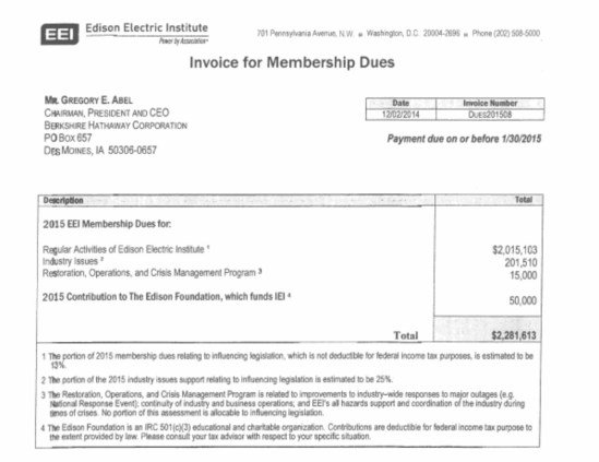 New Report: How electric utility customers are forced to fund the Edison Electric Institute and other political organizations