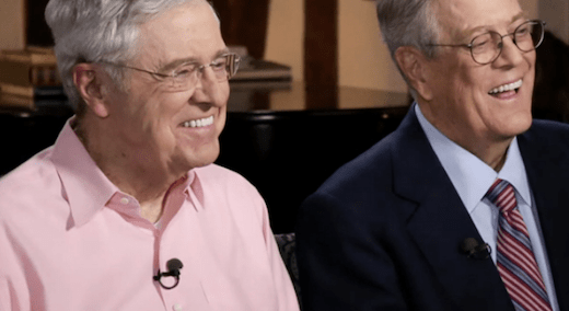 While Trump Blusters, Koch Brothers Get Their Way